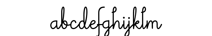Theodista Decally Font LOWERCASE