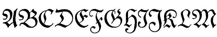 Theuerdank Fraktur Font UPPERCASE
