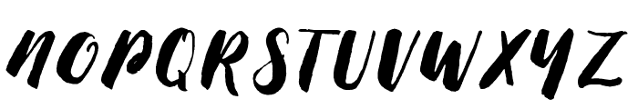 Thick Brush Demo Font UPPERCASE