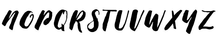 ThickBrushDemo Font UPPERCASE