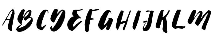 ThickBrushDemo Font LOWERCASE