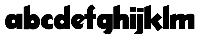ThickDeco Font LOWERCASE