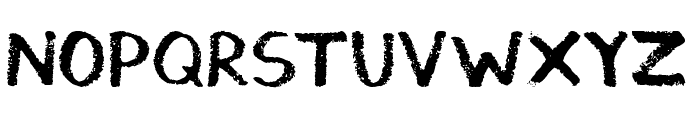 Thickedy Grunge Font UPPERCASE