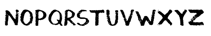 Thickedy Grunge Font LOWERCASE