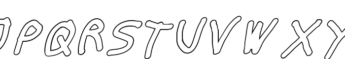 Thicker Than... Water Italic Font UPPERCASE