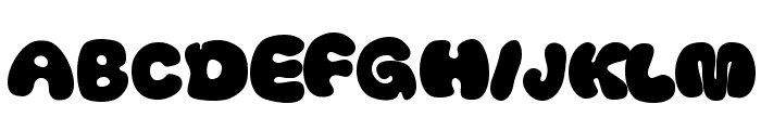 Thickhead Dark Font UPPERCASE