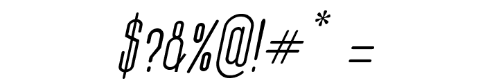 Thin Cool Italic Font OTHER CHARS