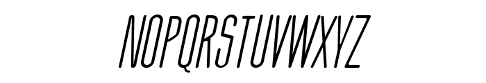 Thin Cool Italic Font UPPERCASE