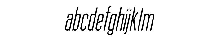 Thin Cool Italic Font LOWERCASE