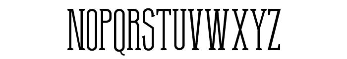 Thin Grotesk Serif Font UPPERCASE