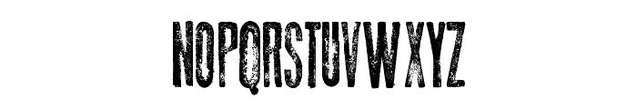 Thin Press Font UPPERCASE