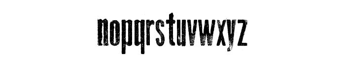 Thin Press Font LOWERCASE