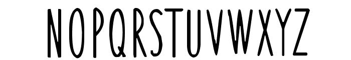 Thin Skinned Font UPPERCASE