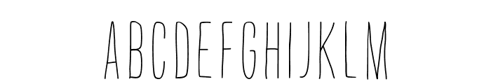 ThinFingers-ThinFingers Font UPPERCASE