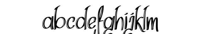 Think Dreams Inline Font LOWERCASE