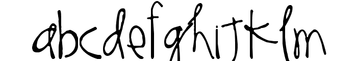 Thinking of You Font LOWERCASE