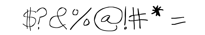 Thinnagins handwriting Font OTHER CHARS
