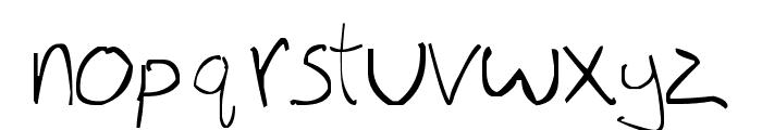 Thinnagins handwriting Font LOWERCASE