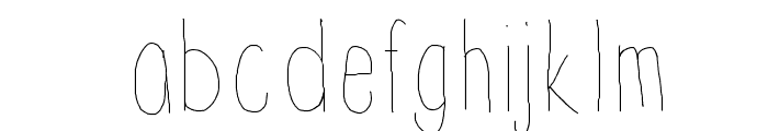 Thinnyness Font LOWERCASE