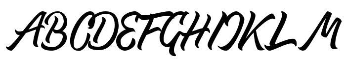 Thipe Typeface Regular DEMO Font UPPERCASE