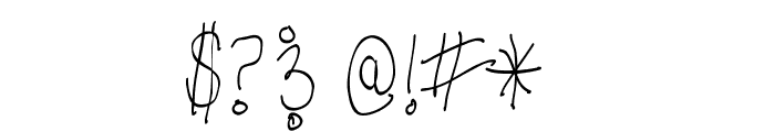 Third Grade Handwriting Font OTHER CHARS
