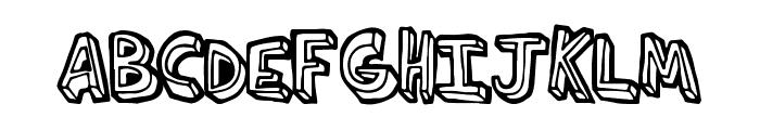 ThirdHand Font UPPERCASE