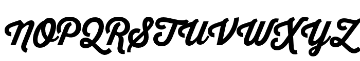 Thirsty Script Extrabold Demo Font UPPERCASE