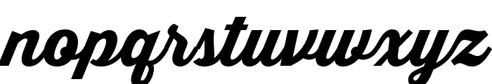 Thirsty Script Extrabold Demo Font LOWERCASE