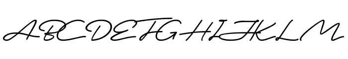 This is Signature Font UPPERCASE