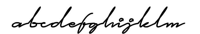 This is Signature Font LOWERCASE