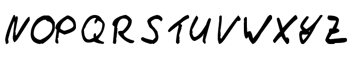 Thommy Handwrite Font UPPERCASE