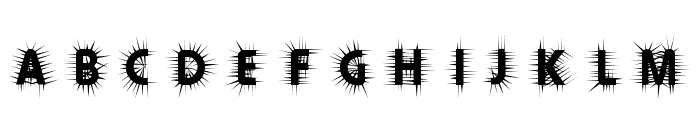 Thorn Font UPPERCASE