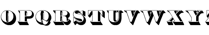Thorne Shaded Font LOWERCASE