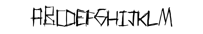 ThrashParty Font LOWERCASE