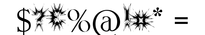 Threatened Font OTHER CHARS