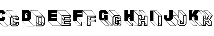 ThreeDeeTwoBeta Font UPPERCASE