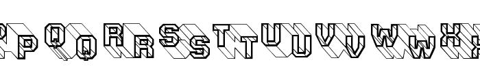 ThreeDeeTwoBeta Font LOWERCASE