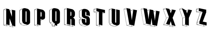 ThreeDimRightwards Font UPPERCASE