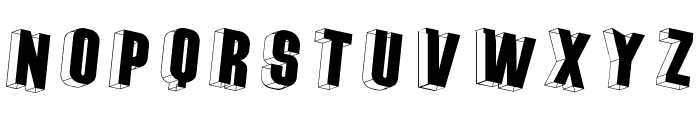 ThreeDimRightwards Font LOWERCASE