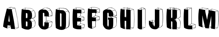 ThreedimensionalRound Font UPPERCASE