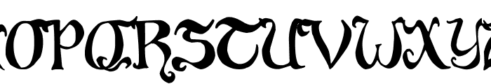 Throrian Commonface Font UPPERCASE
