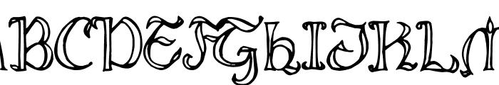 Throrian Formal Font UPPERCASE