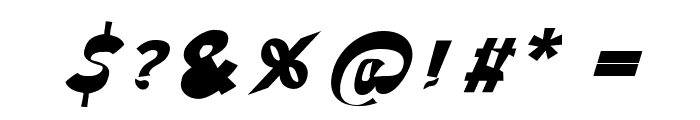 Through The Black Italic Font OTHER CHARS