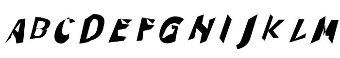 Through The Black Italic Font UPPERCASE