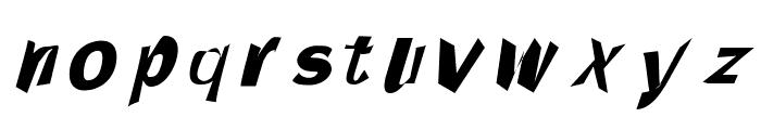 Through The Black Italic Font LOWERCASE