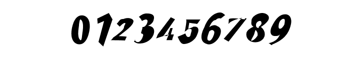 Through The Black Narrow Italic Font OTHER CHARS