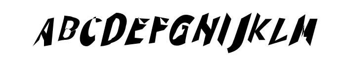 Through The Black Narrow Italic Font UPPERCASE
