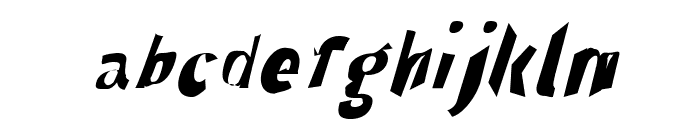Through The Black Narrow Italic Font LOWERCASE