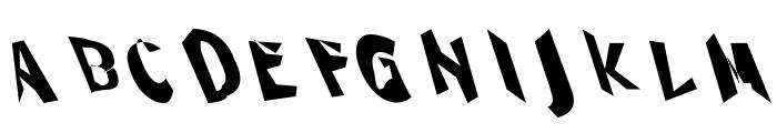 Through The Black Narrow Leftalic Font UPPERCASE