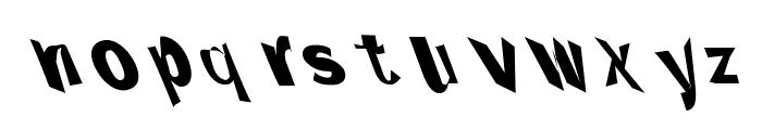 Through The Black Narrow Leftalic Font LOWERCASE